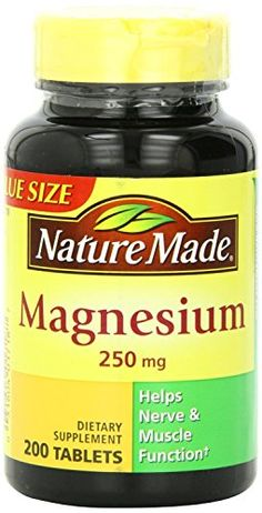 Product Description Nature Made - Magnesium 250 mg, 200 Tabs, Features: Helps nerve and muscle function Essential in the formation of bones and teeth and Liquid Magnesium, Magnesium Benefits, Magnesium Oxide, Supplements For Anxiety, Magnesium Supplements, Weight Loss Supplements, Healthy Weight, Healthy Tips, Cellular Energy