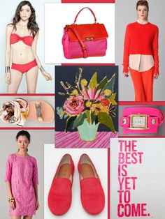 Pink and red,