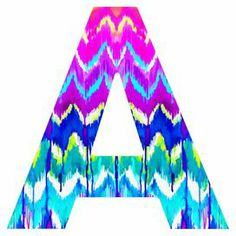 "Add an eye-catching touch to your entryway or master suite with this artful letter decor, showcasing a multicolor chevron-inspired motif.  Product: Letter decorConstruction Material: High-density fiberboardColor: MultiFeatures:  Designed by Holly Sharpe for DENY DesignsMade in the USADimensions: 10"" H x 10"" W x 0.25"" DNote: Hanging hardware not included"