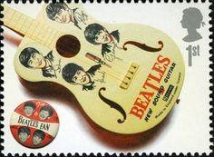 Sello: Guitar (Reino Unido de Gran Bretaña e Irlanda del Norte) (The Beatles Album Covers and Memorabilia) Mi:GB 2470,Sn:GB 2420a,Yt:GB 2833,Sg:GB MS2692a,AFA:GB 2679,Un:GB 2897