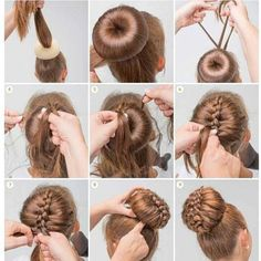 Bun hairstyles are convenient for bad hair days and good hair days, Bun hairstyl. - Bun hairstyles are convenient for bad hair days and good hair days, Bun hairstyles are convenient f - Dance Hairstyles, 5 Minute Hairstyles, Braided Hairstyles, Trendy Hairstyles, Donut Bun Hairstyles, Wedding Hairstyles, Step Hairstyle, Hairstyle Tutorials, Easy Diy Hairstyles