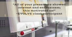 #EVOLVEtestimonial  Register for classes at