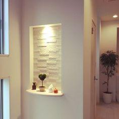 48 Ideas For Wall Mirror Design Interiors Altar Design, Niche Design, Door Design, Wall Design, Décor Niche, Niche Decor, Elegant Home Decor, Elegant Homes, Bathroom Wall Stickers