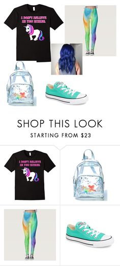 """""""Unicorn shirt"""" by london-charm ❤ liked on Polyvore featuring Current Mood, Disney, Converse and Ultimate"""