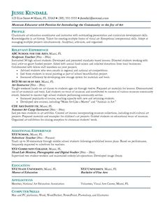 teaching resume cover letter