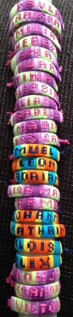 DIY Armbänder mit Namen  Freundschaftsbänder