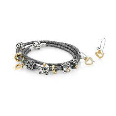 Pandora Grey Leather Bracelet