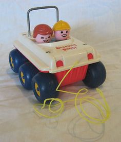Vintage Fisher Price 1973 Bouncing Buggy Pull Toy