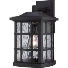Buy the Quoizel Mystic Black Direct. Shop for the Quoizel Mystic Black Stonington Single Light Tall Outdoor Wall Sconce with Clear Water Glass and save. Black Outdoor Wall Lights, Outdoor Wall Lantern, Outdoor Wall Sconce, Outdoor Wall Lighting, Outdoor Walls, Home Lighting, Exterior Lighting, Cottage Lighting, Lighting Ideas