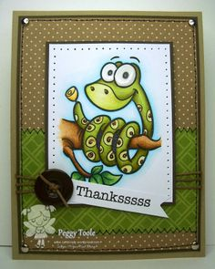 New Monthly Inspirational Blog Post! Card By Peggy using Monty the Snake