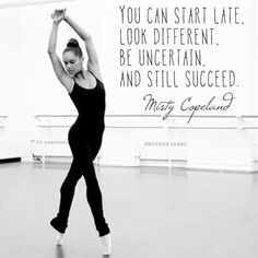 Misty Copeland Is Promoted to Principal Dancer at American Ballet Theater via NYT Misty Copeland Quotes, Ballet Quotes, Song Playlist, Journey Quotes, Short Inspirational Quotes, Ballet Dancers, Ballet Dancer Problems, Just Dance, Meaningful Quotes