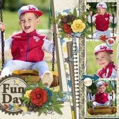 Fun Day Template : Paper Play17 by Akizo Designs http://www.thedigichick.com/shop/Akizo-Designs/  kit : Oh Boy It's Spring by CathyK Designs & Dear Friends Designs http://store.gingerscraps.net/Oh-Boy-Its-Spring.html  Photos : AdinaVoicu