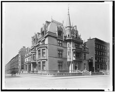 -William K Vanderbilt Mansion, formerly at 660 5th Ave New York City.  -Architect: Richard Morris Hunt  Built 1882 &  Demolished 1926.  -Photo from the Detroit Publishing collection from the Library of Congress