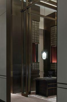 Shenzhen, Chinese Interior, Glass Brick, Hotel Lobby, Luxury Interior, Interior Designing, Chinese Style, Furniture Making, Architecture