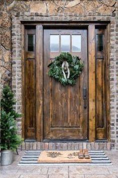 Rustic Farmhouse Front Porch Decorating Ideas - Page 17 of 60 Buy Front Door, Wooden Front Doors, Front Door Design, Rustic Doors, Front Door Decor, Front Entry, Wood Doors, Rustic Interior Doors, Replacing Front Door