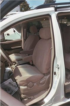 Durafit Seat Covers, SN2-R2 2004 Seat Covers for all 3 Rows of the Toyota Sienna 7 Passenger Van in Beige Automotive Twill.