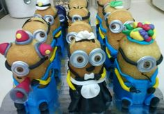 Minions are supposed to be yellow but these are cute sooo I will pin it