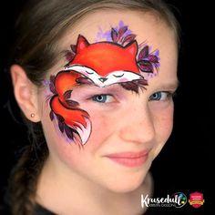 Autumn fox by Kristin Olsson – Girl Face Painting, Painting For Kids, Body Painting, Animal Face Paintings, Animal Faces, Face Painting Tutorials, Face Painting Designs, Fox Face Paint, Christmas Face Painting