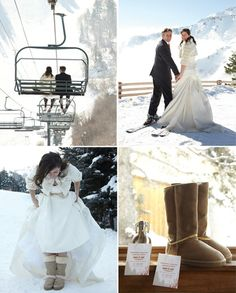 ski resort snowy wedding