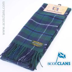 Douglas Tartan Lambswool Scarf. Free Worldwide Shipping Available