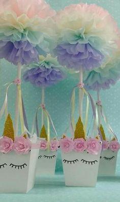 Ideas para centros de mesa unicornio – Souvenirs Ma Cristina