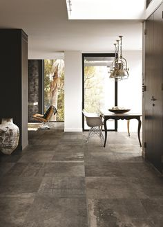 Wall and floor tiles from Royal Mosa with UK delivery. We import a range of porcelain, ceramic and natural stone tiles for architects and interior design projects. Dream House Pictures, Luxury Interior, Interior Design, Tiles Uk, Small Courtyard Gardens, Living Room Flooring, Wall And Floor Tiles, Living Room Designs, New Homes