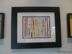 A good framed piece to do yourself