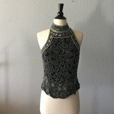 Adrianna Papell beaded top Missing a small amount of beads, but in otherwise great condition. Adrianna Papell Tops Blouses
