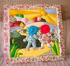 Taller de Artesanía - Página Principal: PATCHWORK EMBUTIDO Decoupage, Applique Templates, Sunbonnet Sue, Doll Quilt, God Loves Me, Applique Quilts, Beautiful Cats, Quilt Blocks, Embroidery Designs