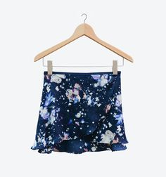 Satin Ballet Wrap Skirt - Cosmos by Cloud