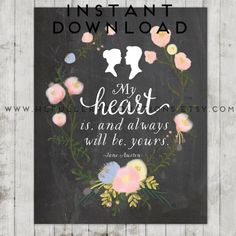 Hey, I found this really awesome Etsy listing at https://www.etsy.com/listing/237678780/jane-austen-wall-decor-instant-art