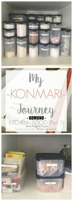 Using the KonMari method in my Kitchen. This is 'My KonMari Journey: KOMONO: Kitchen - Food'. Check out my KonMari series.