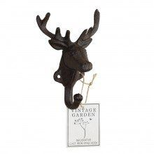 Cast Iron Stag Head Shaped Hook