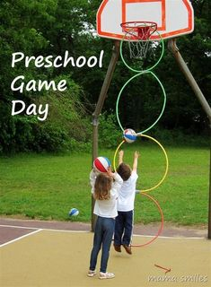 Preschool game day ideas! LOVE these outdoor field day games that are accessible to all ages and abilities. Preschool Games, Fun Activities For Kids, Motor Activities, Preschool Learning, Outdoor Activities, Sports Day Activities, Field Day Activities, Physical Education Activities, Therapy Activities