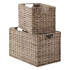 One look and you'll agree - our Ashcraft Bins are simply gorgeous storage and organization solutions! Each is handwoven with a quality that's second to none and their taller height helps you store even more! Use them in the living room, patio or office to get beautifully organized!