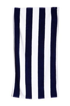 Cabana Stripe Cotton Beach/Pool Towel - Navy by Home Source on @HauteLook