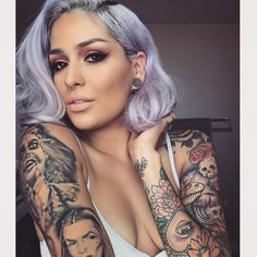 Tattooed Beauty+Lilac Pastel Bob