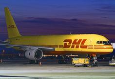 #Boeing 757 #DHL at #Airport #Gdansk (27/02/2013); photo: Sebastian Elijasz