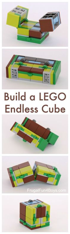 How to Build an Endless Cube (Infinity Cube) out of LEGO Bricks - fun LEGO building challenge! Good fidget toy too. How to Build an Endless Cube (Infinity Cube) out of LEGO Bricks - fun LEGO building challenge! Good fidget toy too. Lego Design, Cube Design, Design Design, Lego Duplo, Lego Robot, Legos, Lego Bucket, Deco Lego, Lego Hacks