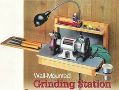 SN# 44 - Wall-Mounted Grinder Sharpening Station Plans