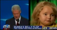 """Fox declares Honey Boo Boo """"one-upped"""" Bill Clinton, and """"tied in viewers"""" at 2.4M. Fact check: Clinton drew 25.1M viewers"""