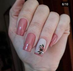 Dicas para unhas lindas e bem decoradas. Square Nail Designs, Nail Art Designs, Nailart, Nagellack Design, Butterfly Nail, Pretty Nail Art, Beautiful Nail Designs, Fancy Nails, Square Nails