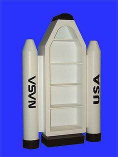 Build rocket ship to hold my NASA memorabilia books.