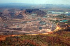 Rio Tinto's Argyle diamond mine in Australia is transitioning from open-pit to underground operations.
