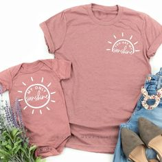 shirts You are My Sunshine © Baby Outfits, Mommy And Me Outfits, Toddler Girl Outfits, Mommy And Me Clothing, Mama Baby, Mom And Baby, Mom And Me, Mommy And Me Shirt, Mama Shirt