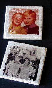 Photo Transfers Using Nail Polish Remover- Make Photo Tiles using supplies from Home Depot and your own nail polish remover!