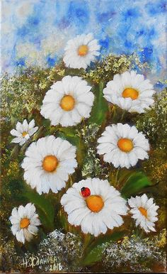 Small paintings art floral oil Painting flowers still life