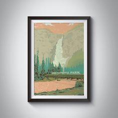 Yoho National Park Travel Poster - 50x70cm / Print Only