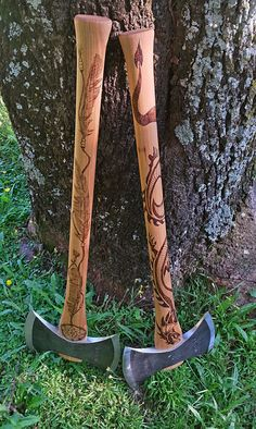 More axe designs. Created by Burnt Offerings NZ