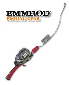 Emmrod 8 Coil Casting Rod Packer Combo - RED Handle Compact Fishing Pole and Reel *** Check out this great product.
